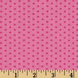 Kaufman Spot On Pindot Bubble Gum Fabric