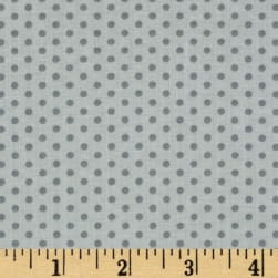 Kaufman Spot On Pindot Silver Fabric