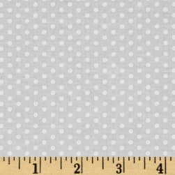 Kaufman Spot On Pindot Snow Fabric