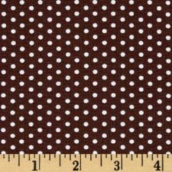 Kaufman Spot On Pindot Chocolate Fabric