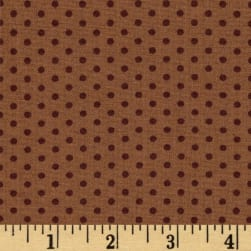 Spot On Pindot Brown Fabric