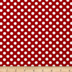 Spot On Medium Dot Red Fabric
