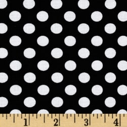 Spot On Medium Dot Black Fabric