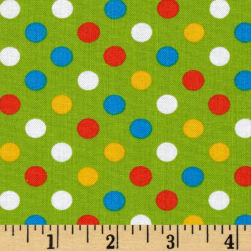 Kaufman Spot On Medium Dot Multi Fabric