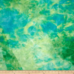 Minkee Gelatto Tie Dye Aqua Sea Fabric