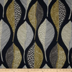 Robert Allen @ Home Woodblock Leaf Indigo Fabric