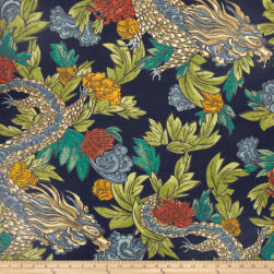 Dwell Studio Ming Dragon Admiral Fabric