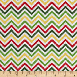 Remix Metallic Small Chevron Holiday Fabric