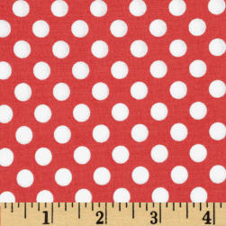 Kaufman Spot On Medium Dot Coral