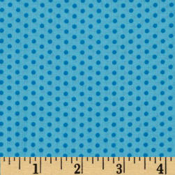 Spot On Pindot Turquoise Fabric