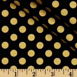 Spot On Metallic Medium Dot Jet Fabric