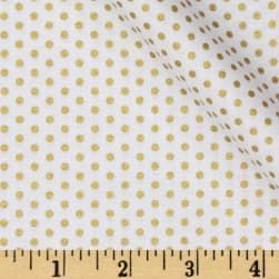 Spot On Metallic Pindot Blanc Fabric
