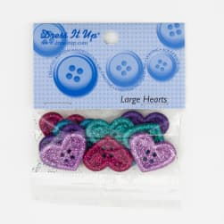 Dress It Up Embellishment Buttons Large Hearts