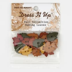 Dress It Up Embellishment Buttons  Raking Leaves