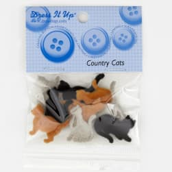 Dress It Up Embellishment Buttons  Country Cats