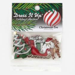 Dress It Up Embellishment Buttons  Christmas Eve
