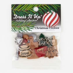 Dress It Up Embellishment Buttons Christmas Cookies