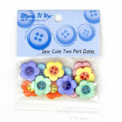 Dress It Up Embellishment Buttons  Sew Cute Two Part Daisy