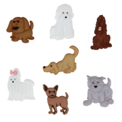 Dress It Up Embellisment Buttons Puppy Parade