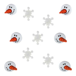 Dress It Up Embellishment Buttons  Snowman Faces