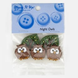 Dress It Up Embellishment Buttons Night Owls