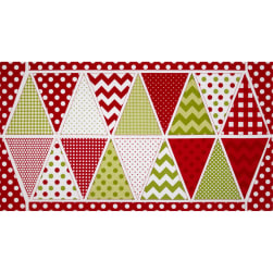 Riley Blake Holiday Banner Panel Christmas Multi Fabric