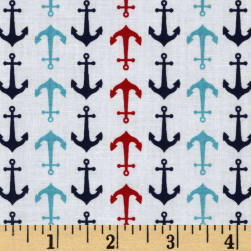 Riley Blake Anchors White Fabric