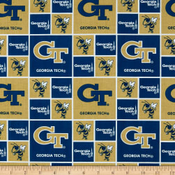 Collegiate Cotton Broadcloth Georgia Tech Fabric
