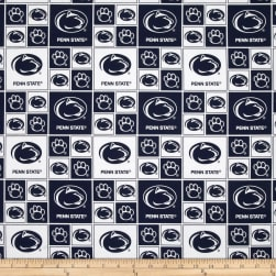 Collegiate Cotton Broadcloth Pennsylvania State University Fabric