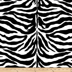 Poly/Cotton Twill Zebra Print Black/White Fabric