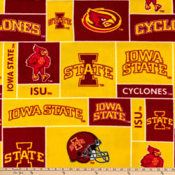 Collegiate Fleece Iowa State University Fabric