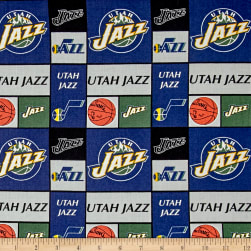 NBA Utah Jazz Patchwork Multi Fabric
