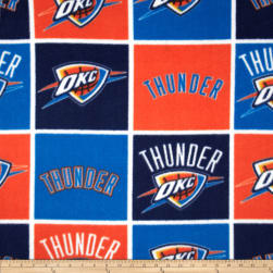 NBA Fleece Oklahoma City Thunder Block Fabric