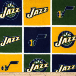 NBA Fleece Utah Jazz Block Fabric