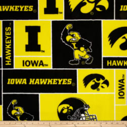 Collegiate Fleece University of Iowa Gold Fabric