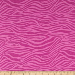 Flannel Zebra Fuschia Fabric