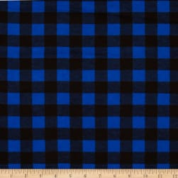Flannel Buffalo Plaid Blue/Black Fabric
