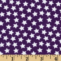 Flannel Stars Deep Lavender Fabric