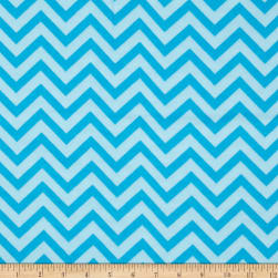 Flannel Chevron Turquoise Fabric