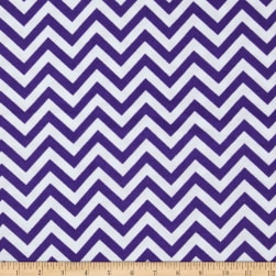 Flannel Chevron Deep Lavender/White Fabric