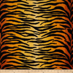 Fleece Animal Print Tiger Black/Gold