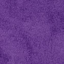 Plush Coral Fleece Solid Amethyst Fabric