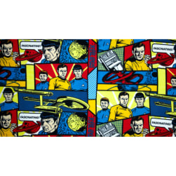 Star Trek Fleece Blue Fabric