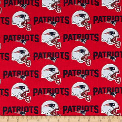 NFL Cotton Broadcloth New England Patriots Red/Navy Fabric