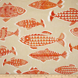 Tommy Bahama Home Fishful Thinking Coral Reef Fabric