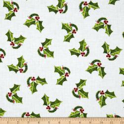 The Very Hungry Caterpillar Christmas Holly White Fabric