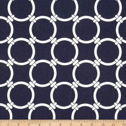 Premier Prints Linked Navy Blue Fabric