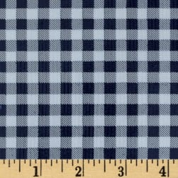Oilcloth Gingham Navy Fabric