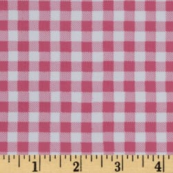 Oilcloth Gingham Powder Pink Fabric