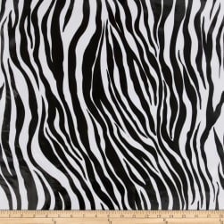 Oilcloth Zebra Black Fabric